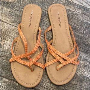 NWOT city classified orange sandals